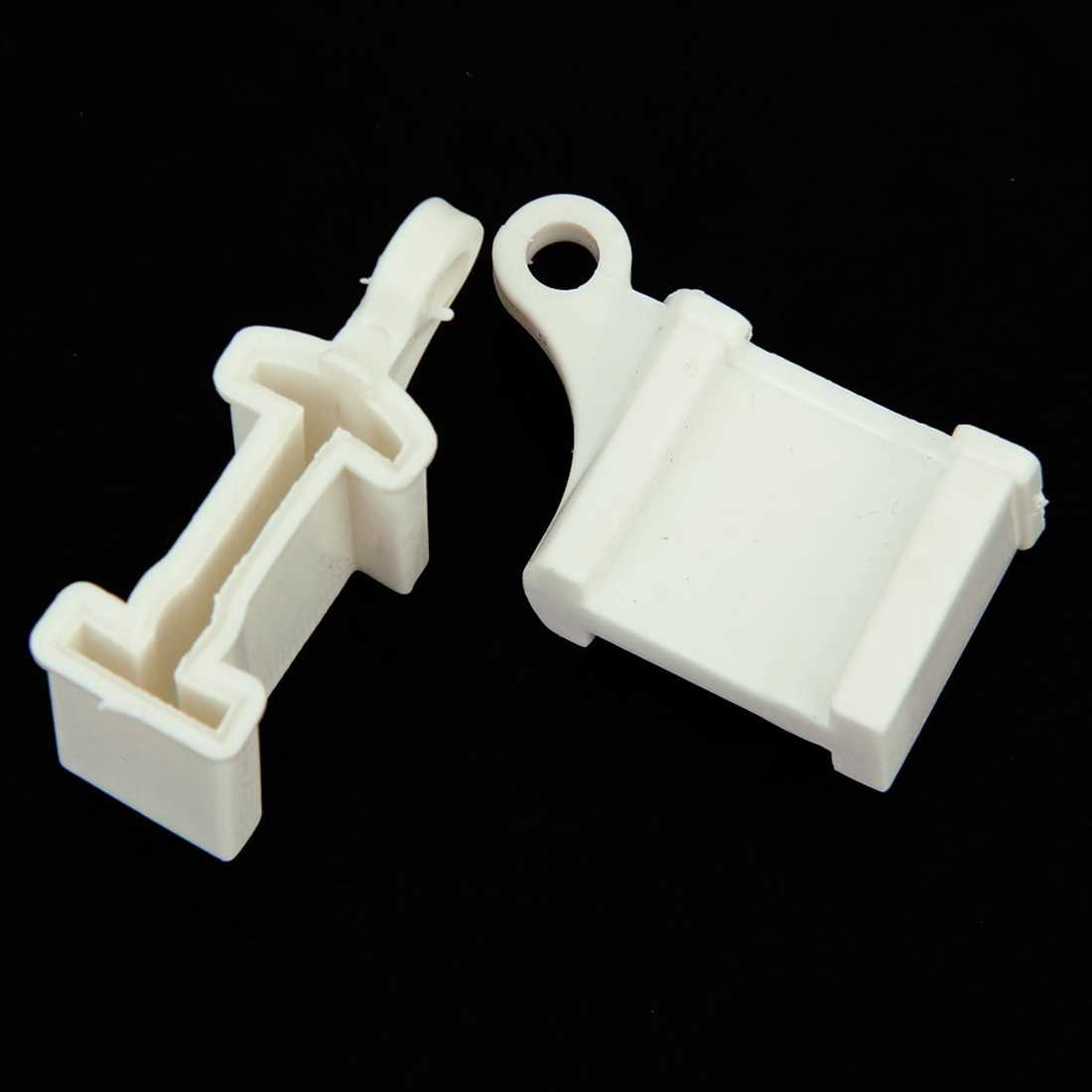 2Pcs Window Curtain Rail Track Ends End Stops