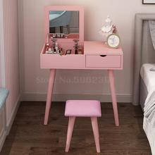 Туалетный столик, маленькая квартира, мини спальня, экономный, скандинавский, простой, флип ins, чистая, красная, макияж, стол