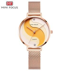 Image 2 - MINIFOCUS Woman Watches 2020 Top Brand Luxury Women Watch Rose gold Quartz Female WristWatch Ladies Clock Girl Relogio Feminino