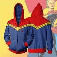BIANYILONG 2018 Männer Mit Kapuze Klassische Captain Marvel 3D Gedruckt Hoodies Lässige Casual zipper hoodie kapuzen hip hop tops