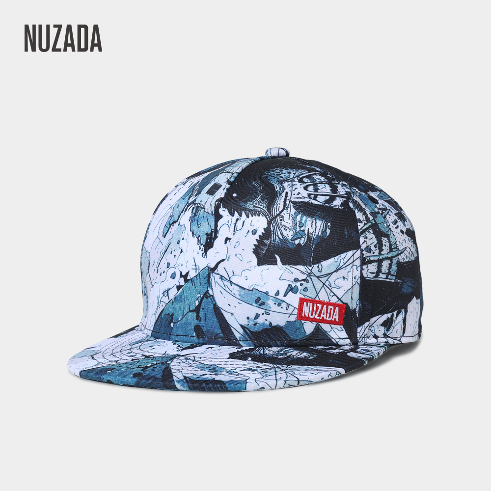 NUZADA HD Digital Printing Baseball Cap For Men Women Couple Snapback  Bone Brand Design Style Hats Original Graffiti Art