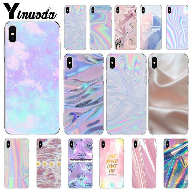 uk availability 28aaa b4919 US $0.85 34% OFF|Yinuoda Pastel Metallic Tumblr Cute Pretty Cell Phone Bag  Case for Apple iPhone 8 7 6 6S Plus X XS MAX 5 5S SE XR Case-in ...