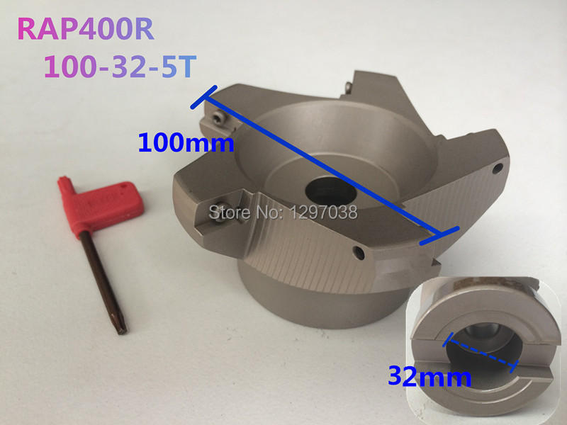 цены RAP400R 100-32-5T 75 degrees Pure Angle face mill APMT1604 Inserts