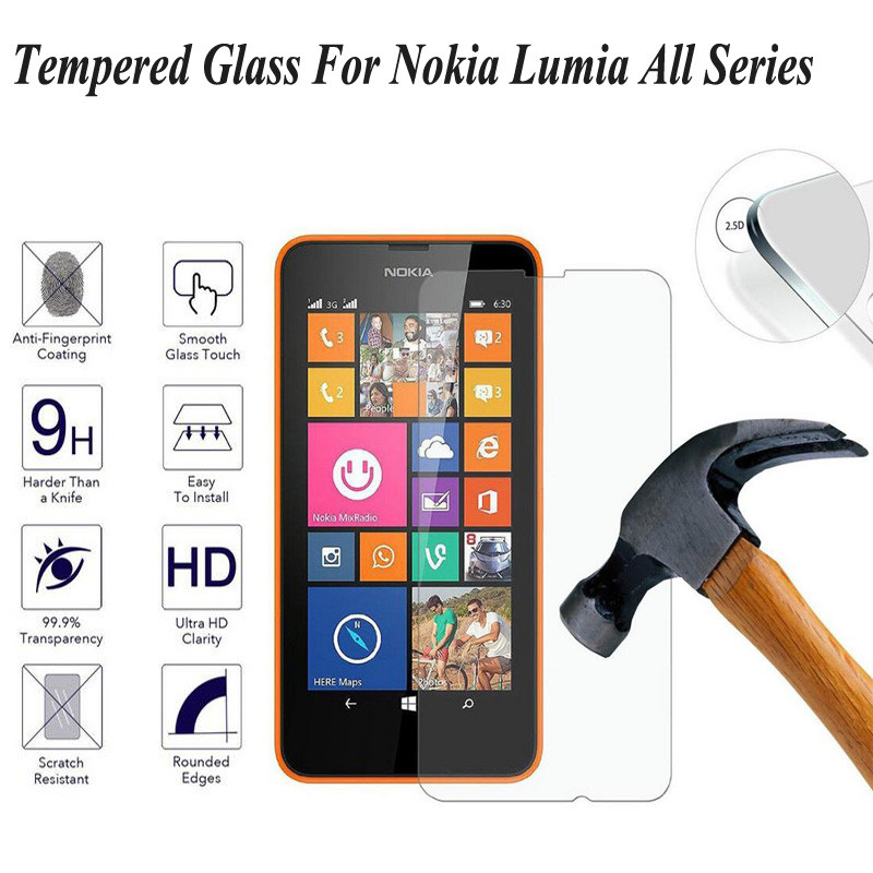 9H Tempered Glass For Microsoft Lumia 535 650 640 630 635 XL 640 950 XL 0.28mm Screen Protector For Nokia 930 950 540 X2 Film
