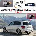 Câmera Wi-fi Sem Fio + Receptor + Monitor Espelho especial Sistema de Estacionamento de Backup Para Mercedes Benz GLK Classe X204 MB 2008 ~ 2015