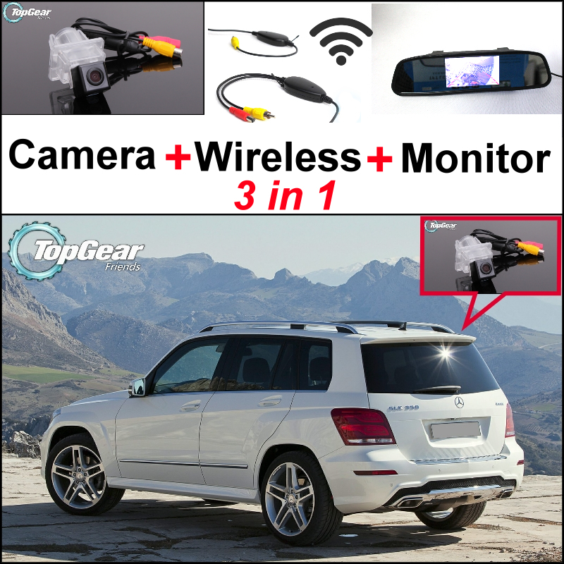 Special WiFi Camera + Wireless Receiver + Mirror Monitor Backup Parking System For Mercedes Benz GLK Class MB X204 2008~2015 3in1 special wifi camera wireless receiver mirror monitor easy diy parking system for mercedes benz mb a class w169