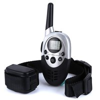 1000M Remote Control Dog Trainer Pets Dog Rechargeable Electric Shock Anti Bark Training Collar With LCD
