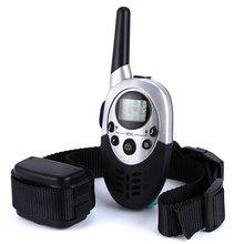 1000 м Дистанционное управление дрессировщик домашние животные собака Перезаряжаемые электрическим током Anti кора воротник обучение с ЖК-дисплей Дисплей
