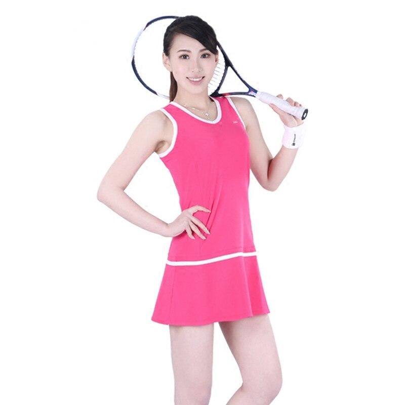 Robes de Tennis pour femmes costume de Sport/costume de Badminton/costume d'athlétisme avec short de sécurité