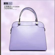 2015 Fashion Oil Waxing Leather Women's Brand Handbags Candy Color Classic Female Portable Bags