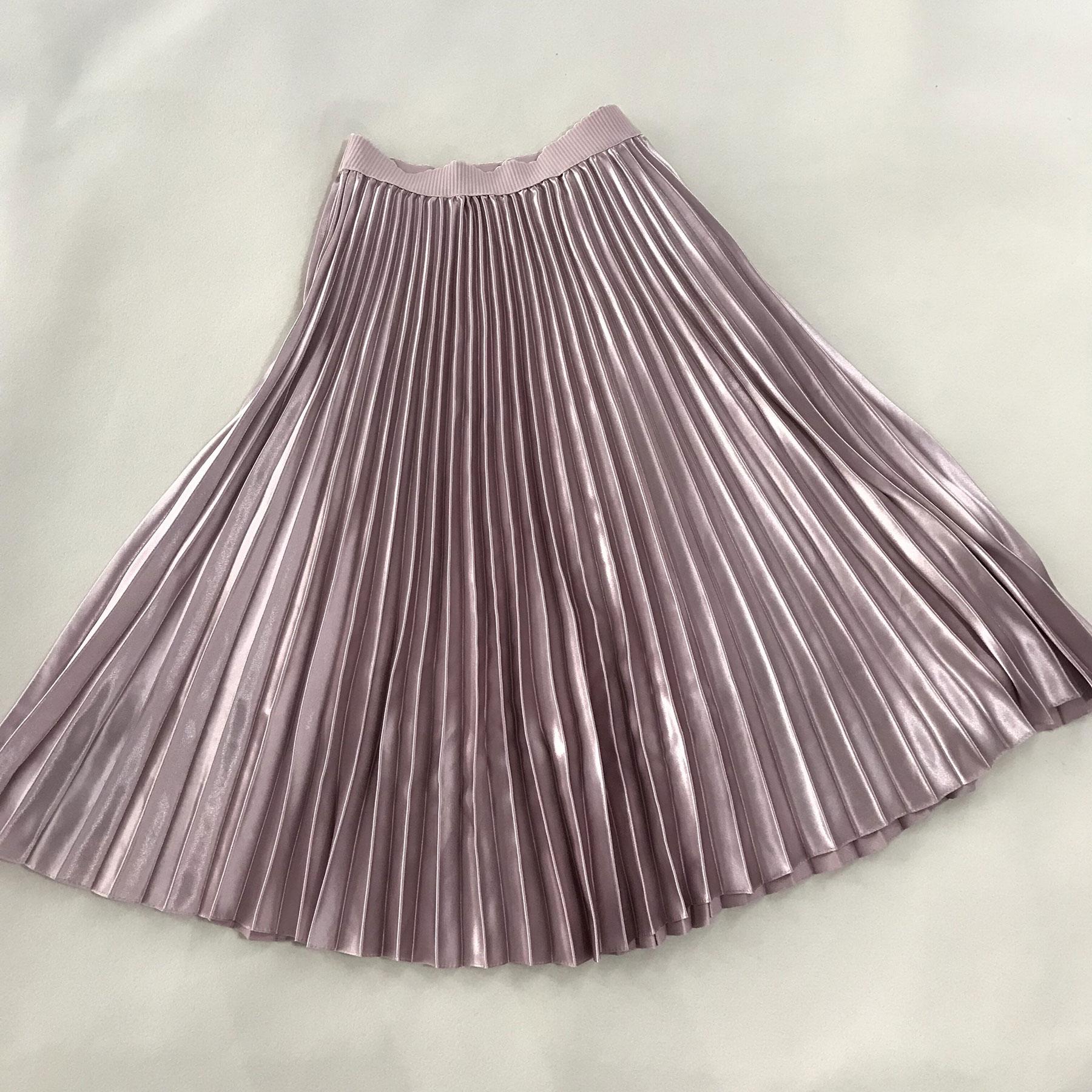 Sherhure 2018 Spring Women Long Skirts Fashion Brand A-Line Women Pleated Skirts High Waist Women Midi Skirt Faldas Mujer Saias 4