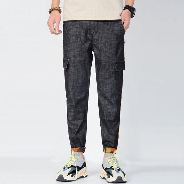 Men's Baggy Jeans Plus Size Stretch Jeans Men with Buttons Loose casual Jeans Vaqueros Hombre Denim 28-36