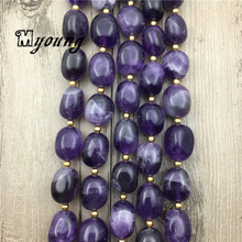 Egg Shape Polished Amethysts Beads,Purple Nature Stone Crystal Beads For DIY Jewelry 3 strands/lot  MY1779