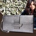 2017 genuine leather women's day clutch bag horizontal square envelope bag first layer cowhide ladies handbag