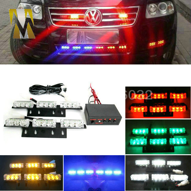 2x9 led 18LED grille flash Car light Strobe Flash Warning EMS Police Truck Light Flashing Firemen Lights DC 12V