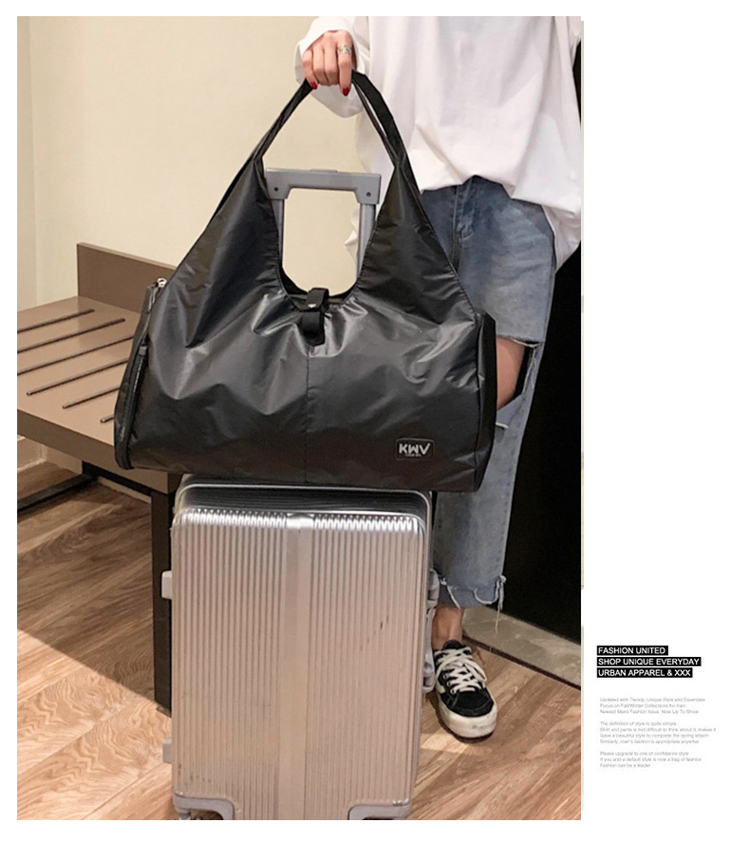 Women Leather Travel Bag Large Duffle Independent Shoes Storage Big Fitness Bags Handbag Bag Luggage Shoulder Bag Waterproof