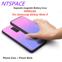 Extended Phone Battery Case 5000mAh Wireless Magnetic Battery Charging Case For Samsung Galaxy Note 9 Separate Power Bank Case