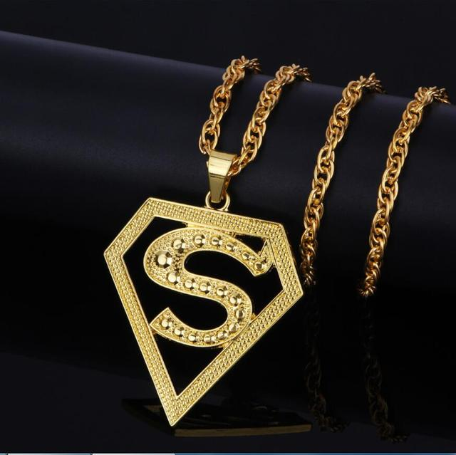 Hip hop goldkette  Aliexpress.com : Neue Hip Hop Superman Anhänger Rap Lange ...