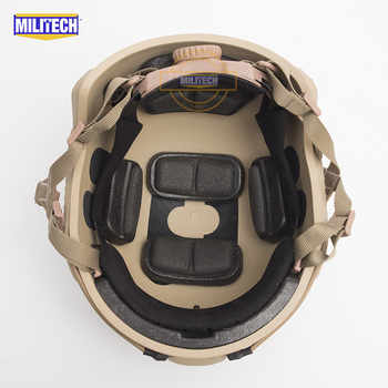 MILITECH FAST Tan FA Style Super ABS Airsoft Tactical Helmet Ops Core Style High Cut Training Helmet FAST Ballistic Style Helmet