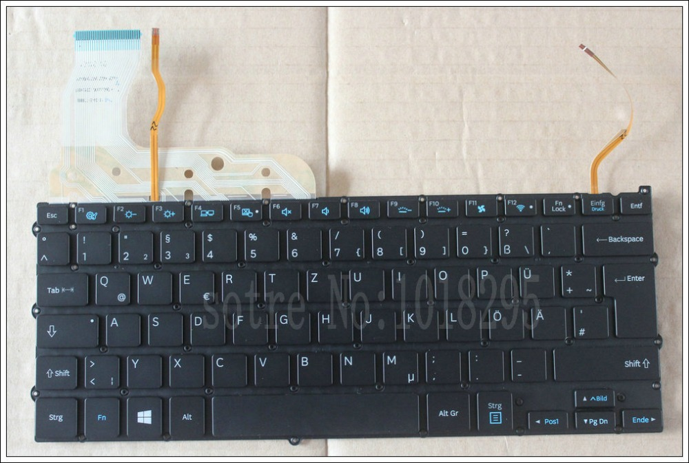 NEW FOR Samsung NP940X3G NP940X3F German Laptop KEYBOARD backlit