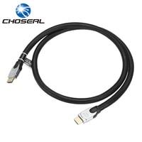 Choseal Q603 Hdmi-kabel 2.0 V 3D 4 K * 2 K Diameter 11.11 MM HD Kabel Nylon Weave Draad voor PS3/TV/Computer/Projector/Multimedia