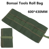 Green Bonsai Storage Bags Canvas Carrying Handles Package Roll Bag For Garden Roll Rolling Repairing Tool