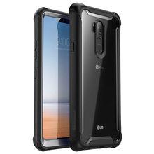 Do LG G7 Case 6.1 cala i blason Ares wytrzymałe przezroczyste na zderzak z wbudowanym ochraniaczem ekranu do LG G7 ThinQ (2018)