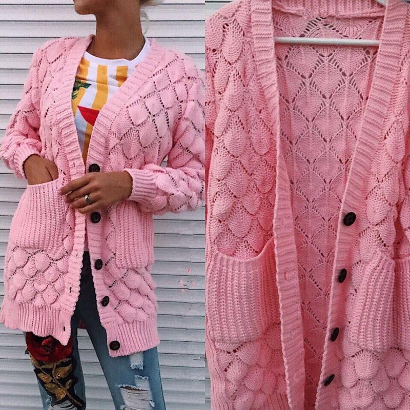BKLD Cardigans Spring Women 2018 Casual Long Sleeve Knitted Women Cardigans New Ladies Sweaters Fashion Long Cardigan Coat Women
