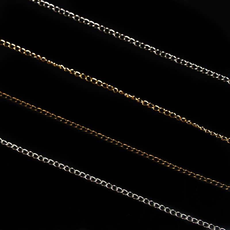 Звено цепи 5 метров 1 мм 5 цветов Finsh металлическая звеньевая цепочка Ручная работа ожерелье ювилирные изделия фурнитура оптом разъем Модные украшения своими руками