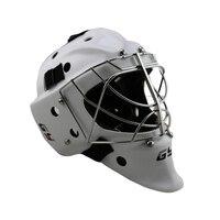 CE сертификат Профессиональный Белый Хоккейный шлем вратаря, вратарь хранитель шлем с решетка кошачий глаз