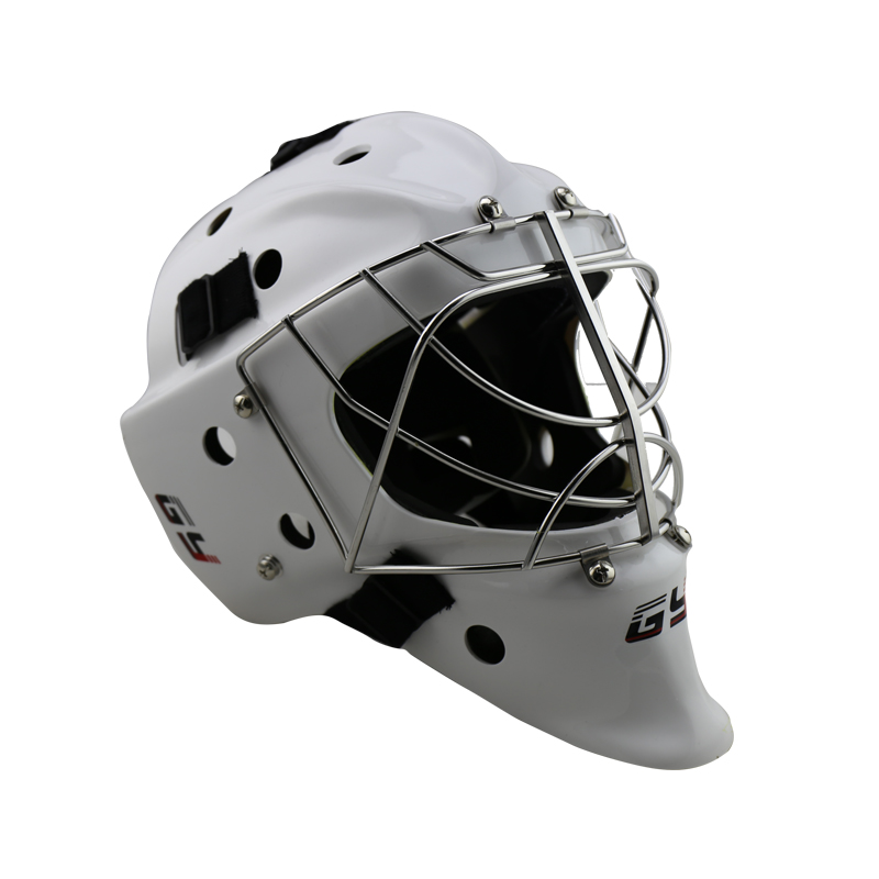 CE certificate Professional White Ice Hockey Goalie mask, goalie keeper helmet with cat eye cage free shipping ce hecc csa approved new design ice hockey helmet hockey sport helmet with mask for adlut