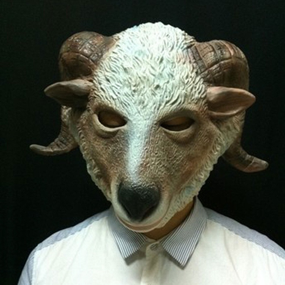 Aliexpress.com : Buy 1pc Fun Goat Halloween Mask Realistic Latex ...
