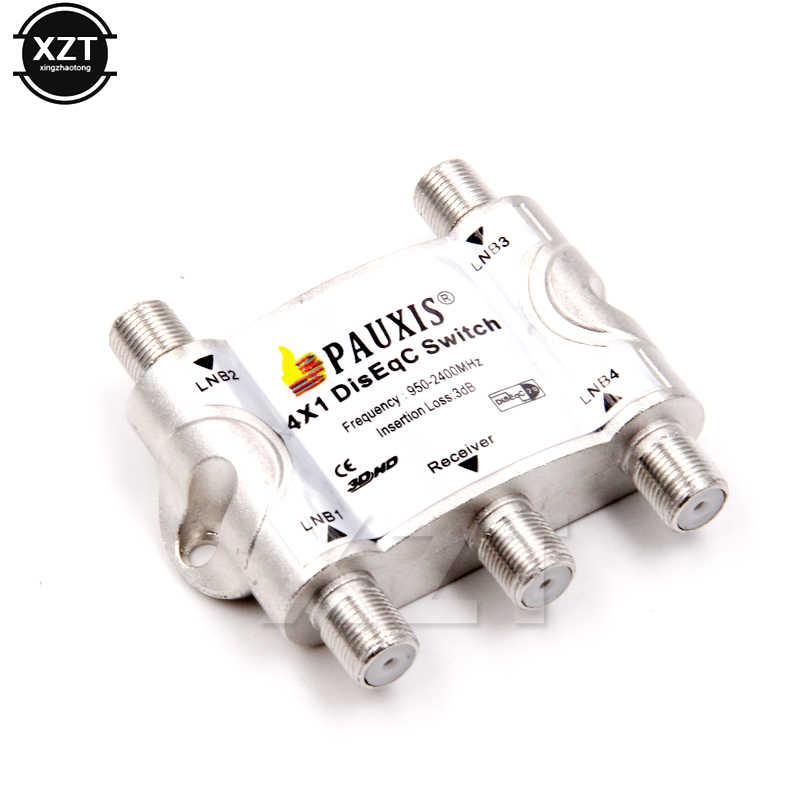 Высококачественный оригинальный 4*1 переключатель diseqc 2,0 спутниковый ТВ-тюнер переключатель fta спутниковый ресивер diseqc 4x1 спутниковый переключатель