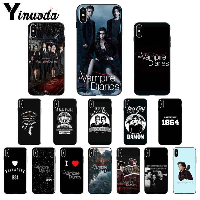Мягкий чехол для телефона Yinuoda The Vampire diaries Stefan Damon salvore из ТПУ для iPhone 8 7 6 6 S Plus X XS MAX 5 5S SE XR