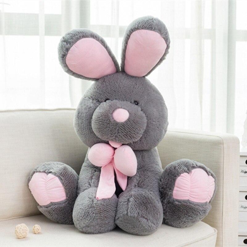 3 couleurs mignon américain grand lapin en peluche poupées en peluche jouet amérique lapin animal bébé enfants jouets