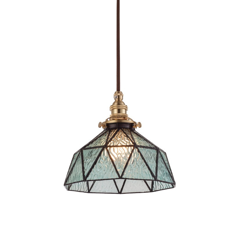Industrial Loft Style Vintage Pendant Light Copper Glass Hanging Lamp Dining Room Indoor Lighting Retro Droplight Luminaire