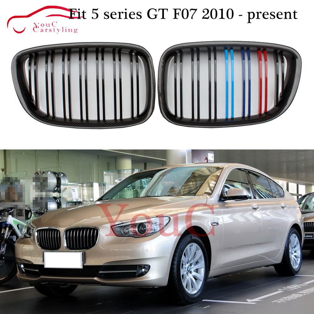 <font><b>F07</b></font> front kidney grill grille <font><b>bumper</b></font> grilles mesh for <font><b>BMW</b></font> 5 series <font><b>GT</b></font> <font><b>F07</b></font> 535i 550i 2010 - 2017 replacement gloss M hood grills image