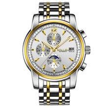 SOLLEN люксовый бренд часы мужчины бизнес случайный спорт многофункциональный мужские наручные Серебристые Механические Наручные Часы водонепроницаемый