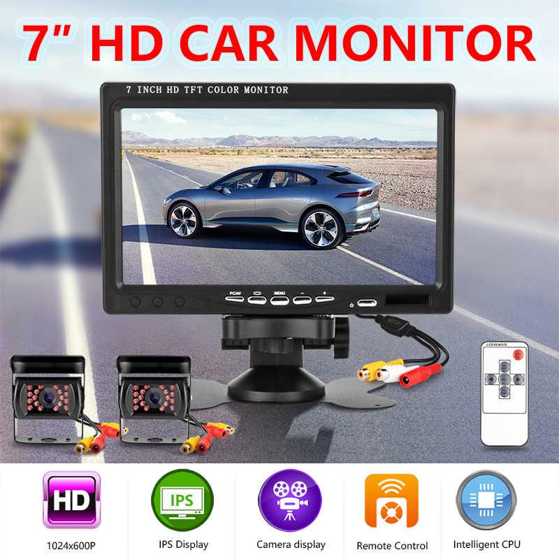 7 بوصة HD IPS TFT LCD اللون متعددة الوظائف سيارة المخده شاشة الرؤية الخلفية دعم HDMI VGA AV اللاسلكية للرؤية الليلية كاميرا للكمبيوتر