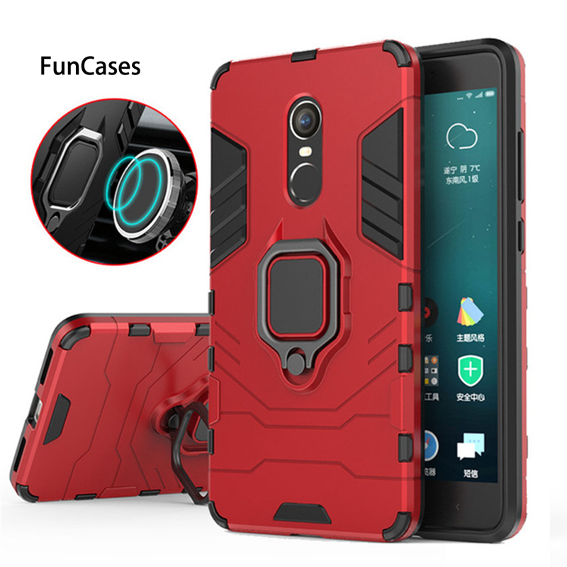 Magnetic Shockproof Armor Phone <font><b>Case</b></font> For Xiaomi <font><b>Redmi</b></font> <font><b>Note</b></font> <font><b>4X</b></font> Luxury Car Ring Holder Stand Hard Back Cover For Red Mi note4x 4 x image