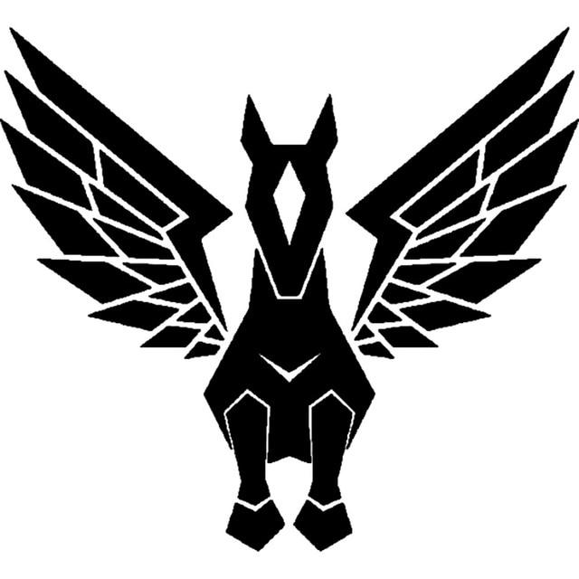 14 1cm 12 9cm Tribal Pegasus Unicorn Cartoon Car Sticker