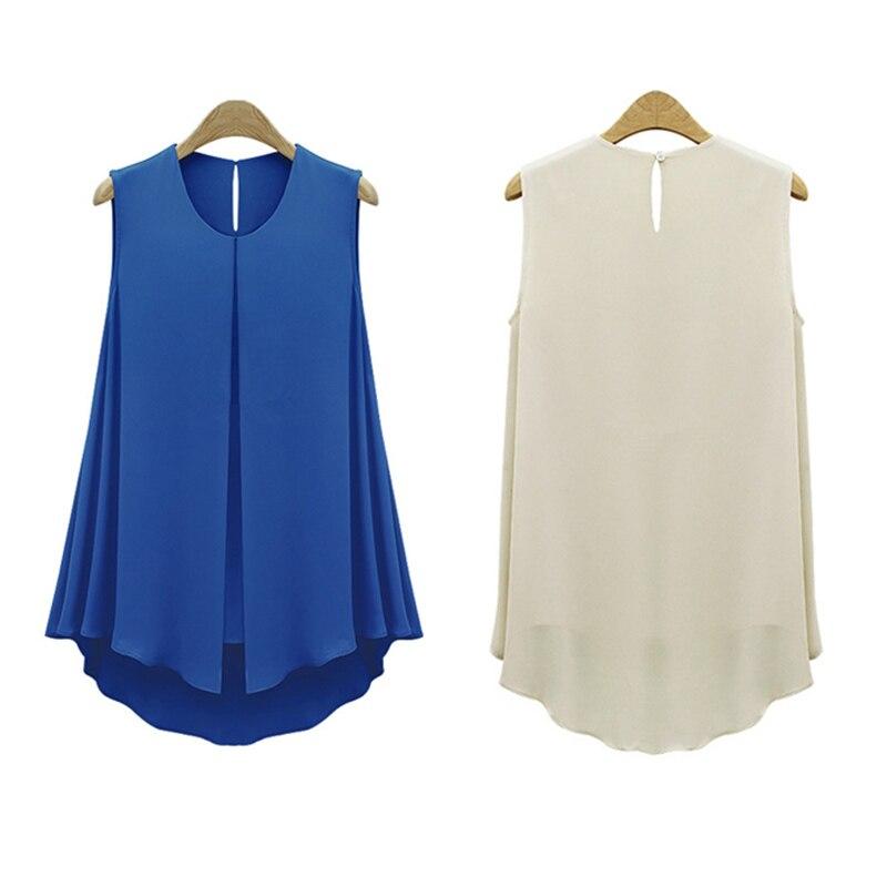 HTB1gvq8NpXXXXXAXXXXq6xXFXXXZ - Summer Shirts Plus Size Ruffles Tops Sleeveless O-neck