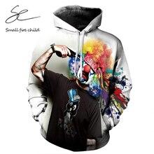 NEW Autumn Winter Fashion Men/women Hoodies With Cap Print Gun Clown Hooded Hoody Sweatshirt 3D lovely Tracksuits