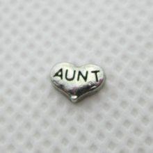 c1af2cc25a7d Nueva llegada 20 unids lote plata tía corazón encantos flotantes que viven  la memoria de cristal Lockets colgantes DIY accesorio.