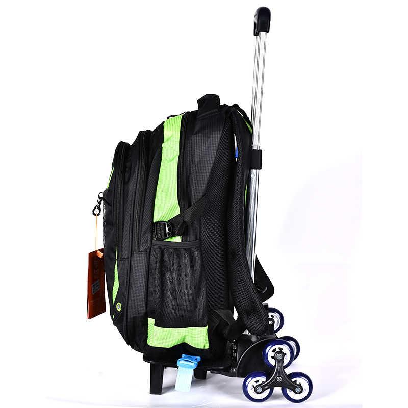 BAIJIAWEI Тележка детей школьные ранцы дети рюкзаки с чемодан-тележка на колесах для обувь девочек и мальчиков школьный рюкзак