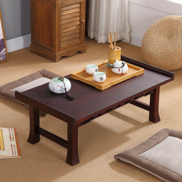 Online Shop Asian Wood Furniture Korean Dining Table Folding Leg
