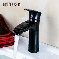 MTTUZK Free shipping Oil Rubbed Bronze Bathroom faucet European retro style sink faucet red brown basin faucet mixer tap