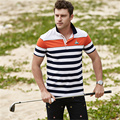 High quality Summer style striped cotton men solid polos shirt male brand clothing Tace & Shark business polo