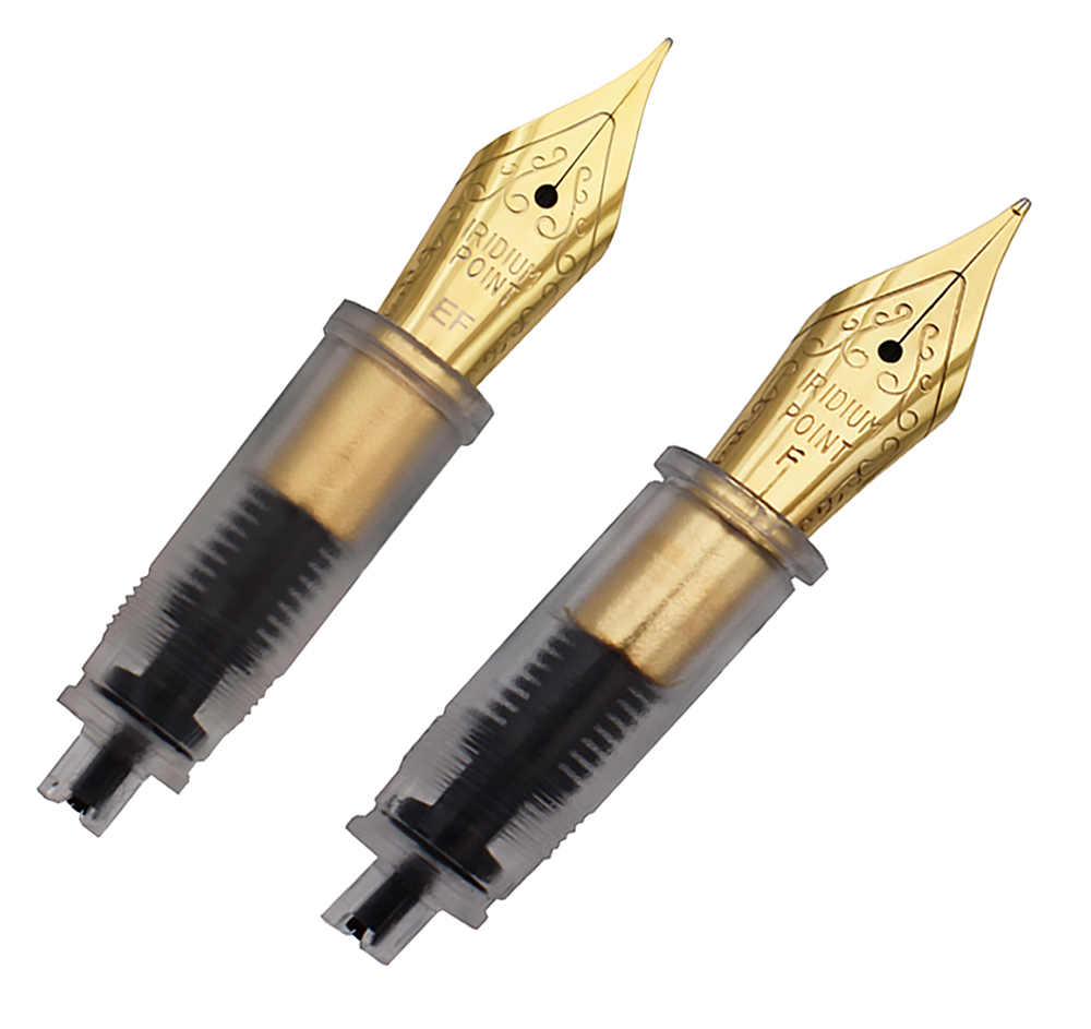2 PCS Moonman M2 / Wancai Fountain Pen Metal Nibs Extra Fine and Fine Nib 0.38mm and 0.5mm 2 Nibs Replaceable Combination