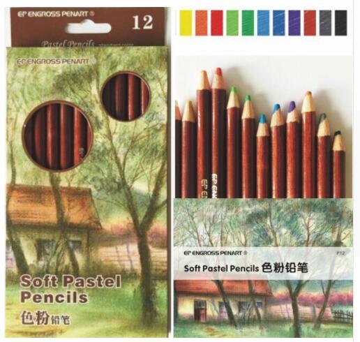 цены на 12 Colors Soft Pastel Pencils Wood Skin Tints Pastel Colored Pencils For Portrait Drawing Sketch School Lapices Stationery в интернет-магазинах